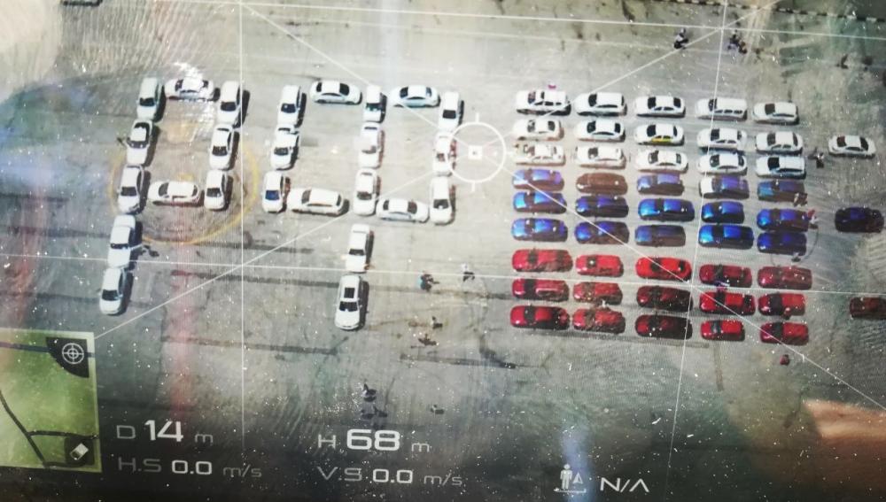 Автомобильный флешмоб состоялся в Новороссийске