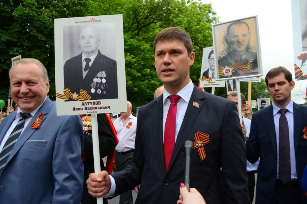 Вице-спикер ЗСК Сергей Алтухов прошел в «Бессмертном полку» Новороссийска