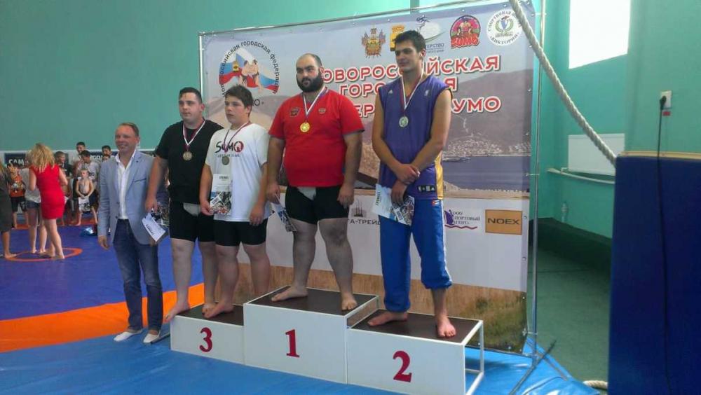 Открытые краевые соревнования по сумо прошли в Новороссийске