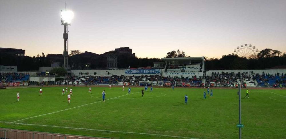 Первый гол матча «Черноморец» - «Спартак»