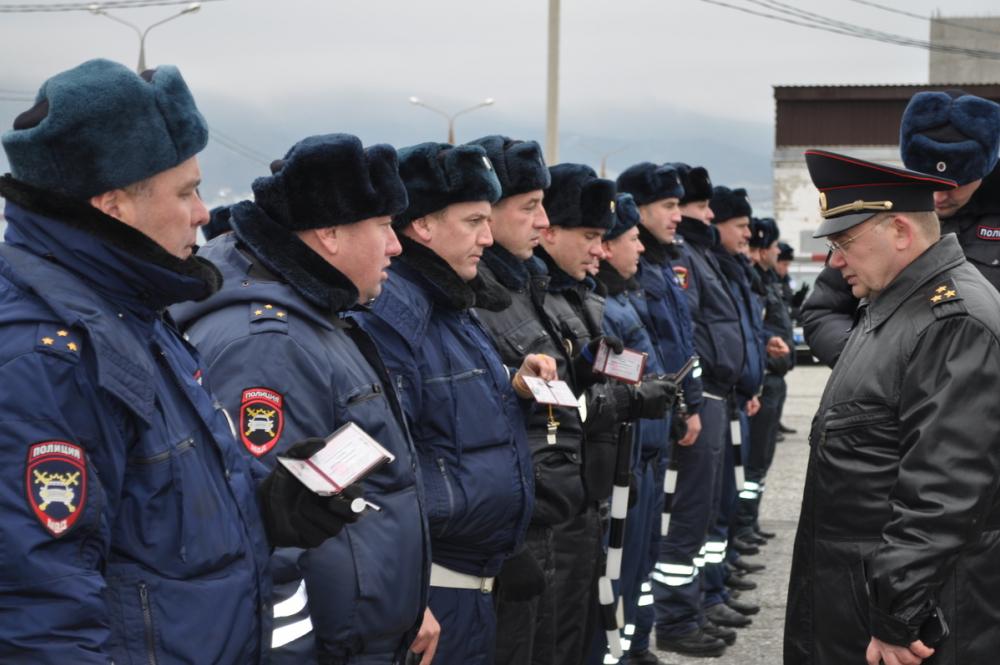 Линейку из ГАИшников со всего края выстроили в Новороссийске