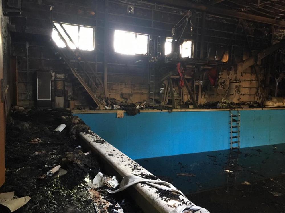 Новороссийская «вышка» показала последствия пожара