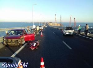 На Крымском мосту произошло первое смертельное ДТП