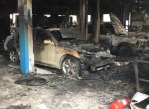 Стал известен ущерб от пожара в новороссийском автосервисе