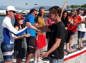 В Новороссийске победитель соревнований по сапсёрфингу не согласился с решением судей
