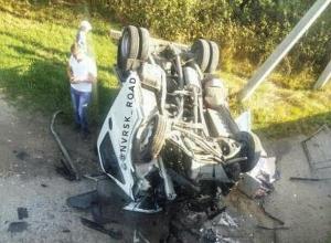 Автомобиль улетел с моста в Новороссийске