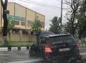 Видеорегистратор зафиксировал массовое ДТП в Новороссийске