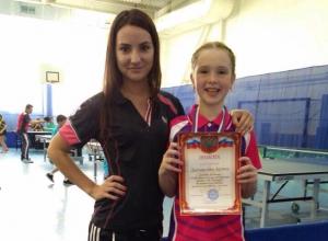 Любительница пинг-понга из Новороссийска завоевала бронзу на краевом турнире