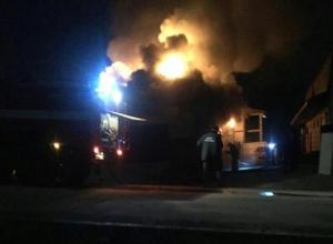В Новороссийске горел частный дом