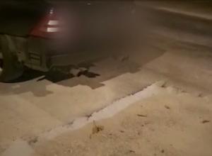 Новороссиец «попал» на 50 тысяч рублей из-за ямы, оставленной Водоканалом