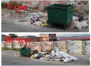 Ежедневно гора мусора образовывается на улице Красина в Новороссийске