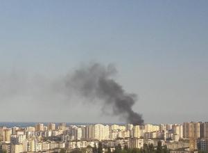 Дым от пожара был виден по всему Новороссийску