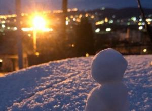 В Новороссийске выпал первый снег