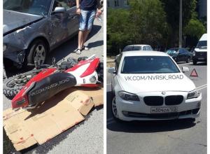 Жена главы Центрального района Новороссийска снесла мотоциклиста