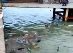 Кучами мусора на берегу моря поддерживают год экологии в Новороссийске