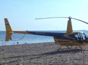 Незаконное приземление вертолета сняли новороссийцы