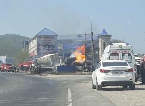 Пожар на АЗС во Владимировке локализован, никто из новороссийцев не пострадал