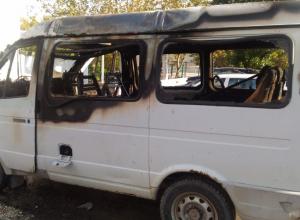 Пассажирская газель сгорела в Новороссийске