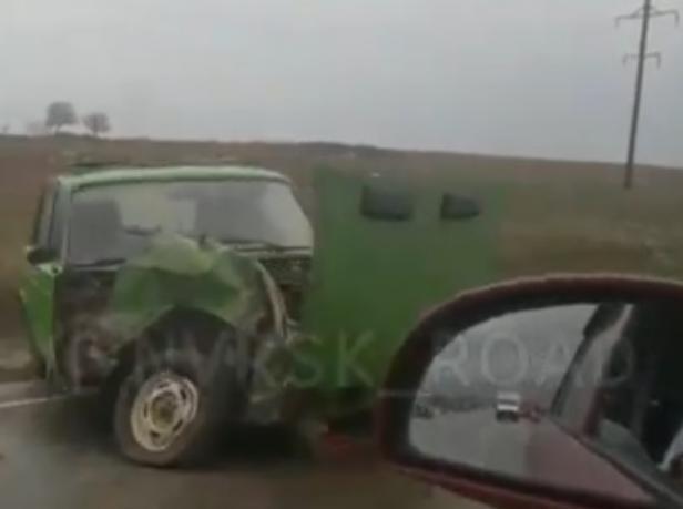 Новая  авария на скользкой дороге произошла под Новороссийском