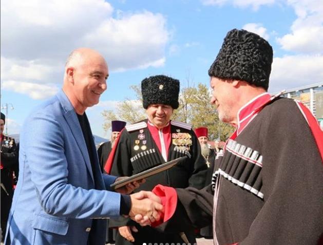 Казакам Новороссийска подарили на годовщину ключи от машины