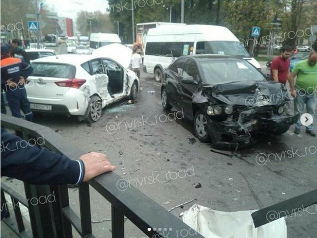 Сразу две крупные аварии произошли в Новороссийске