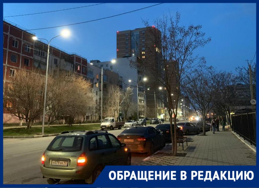 Одну улицу в Новороссийске осветили, вторую – погрузили в тьму
