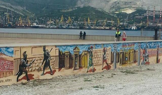 На набережной появилось самое большое граффити в Новороссийске