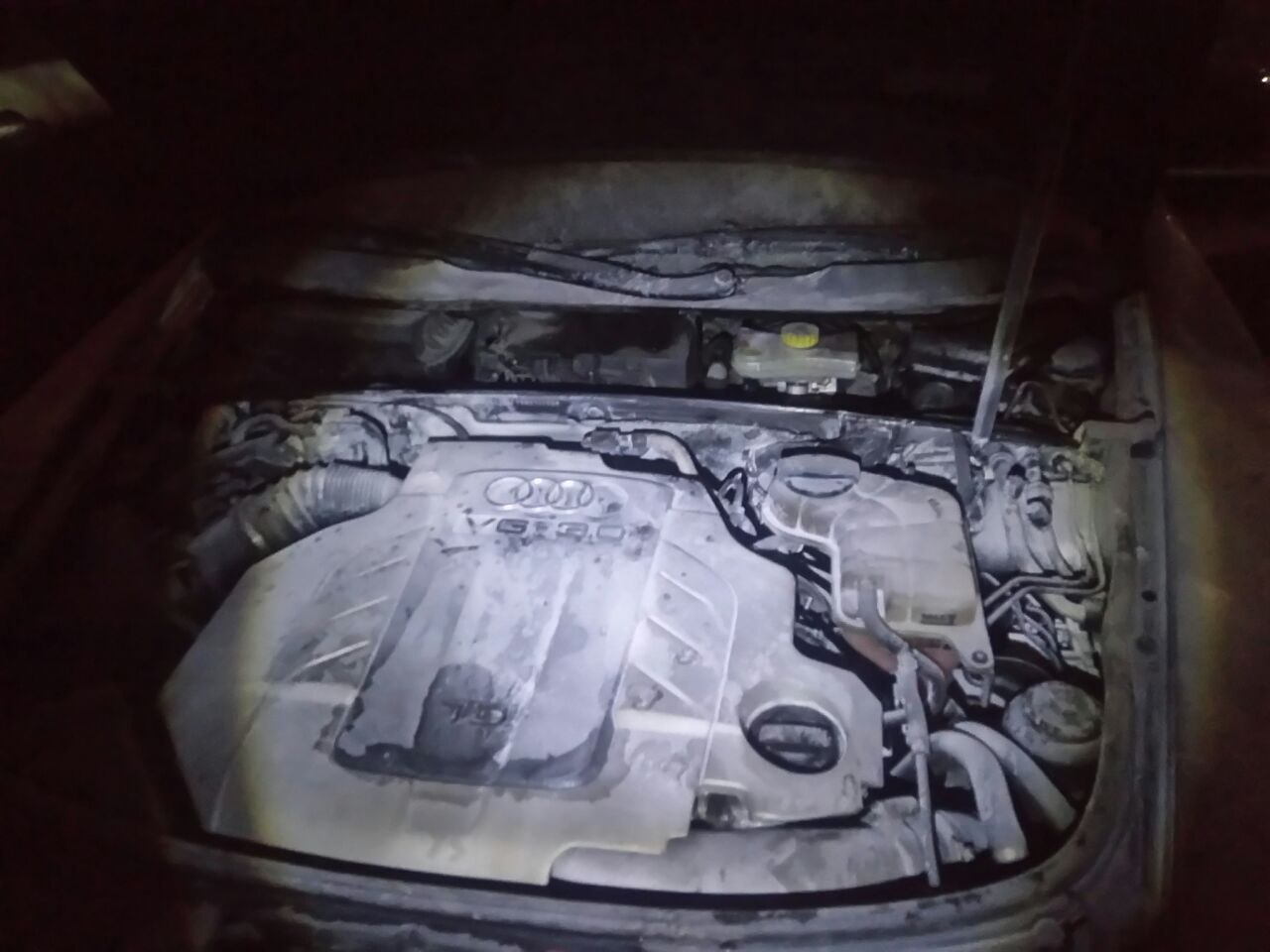 Новороссийцу спалили автомобиль