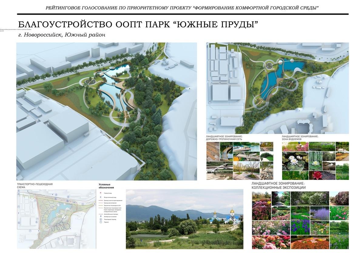 Новороссийцы проголосовали за благоустройство Южных прудов