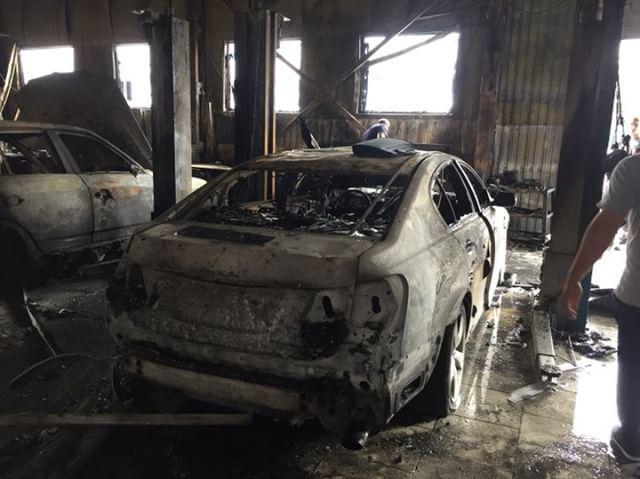 Стали известны подробности пожара в АМ Сервисе в Новороссийске