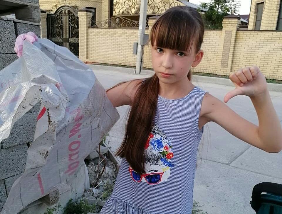 Десятилетняя девочка спасает Новороссийск и планету от мусора