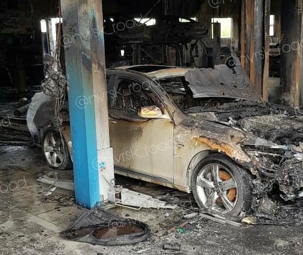 За полтора часа «работы» пожар в автосервисе Новороссийска сожрал тучу миллионов рублей