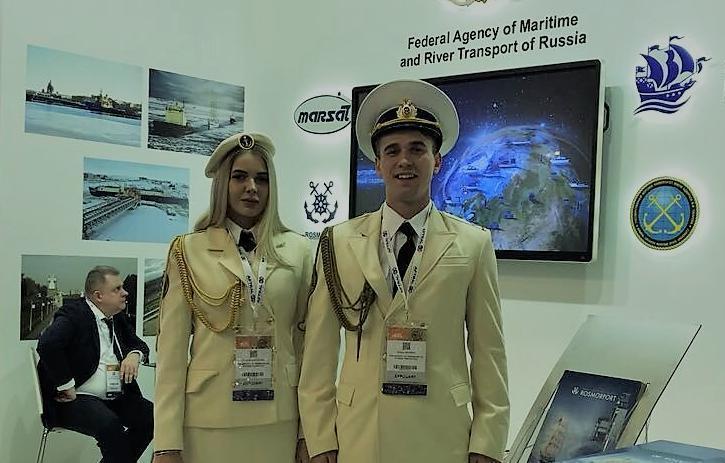 Новороссийские курсанты ГМУ приняли участие в работе выставки в Париже