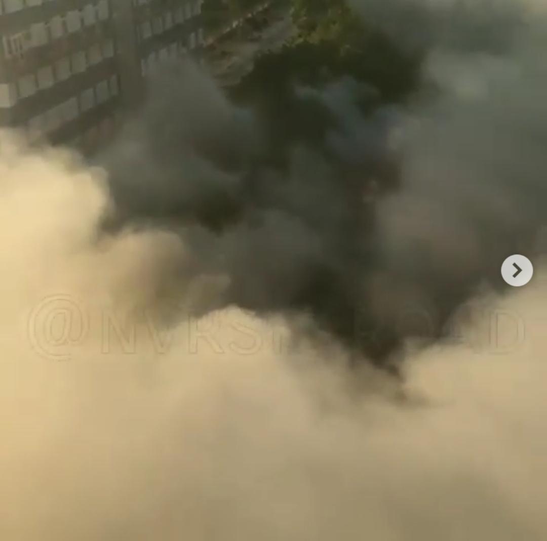 На территории «Вышки» произошел крупный пожар