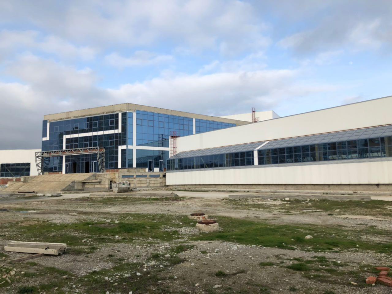 Снова продолжить строительство дворца спорта планирует администрация Новороссийска в этом году