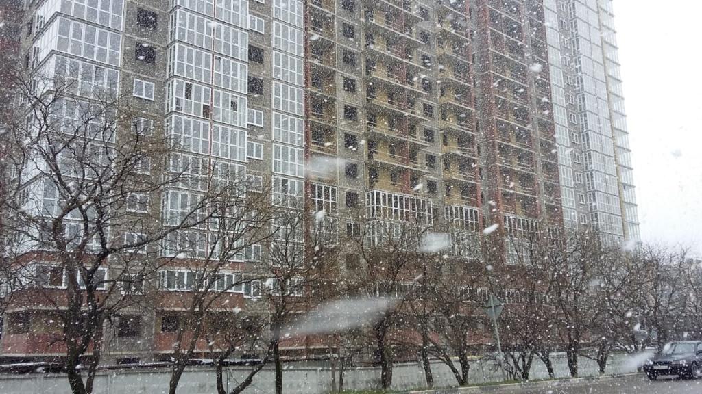 Снег в Новороссийске